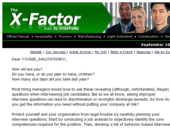 The X-Factor: Are your interview questions illegal?