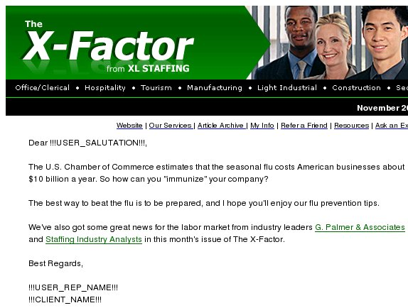 The X-Factor: Ready for the 2010-2011 cold and flu season?