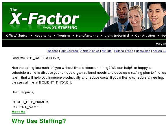 The X-Factor: Why Use Staffing?